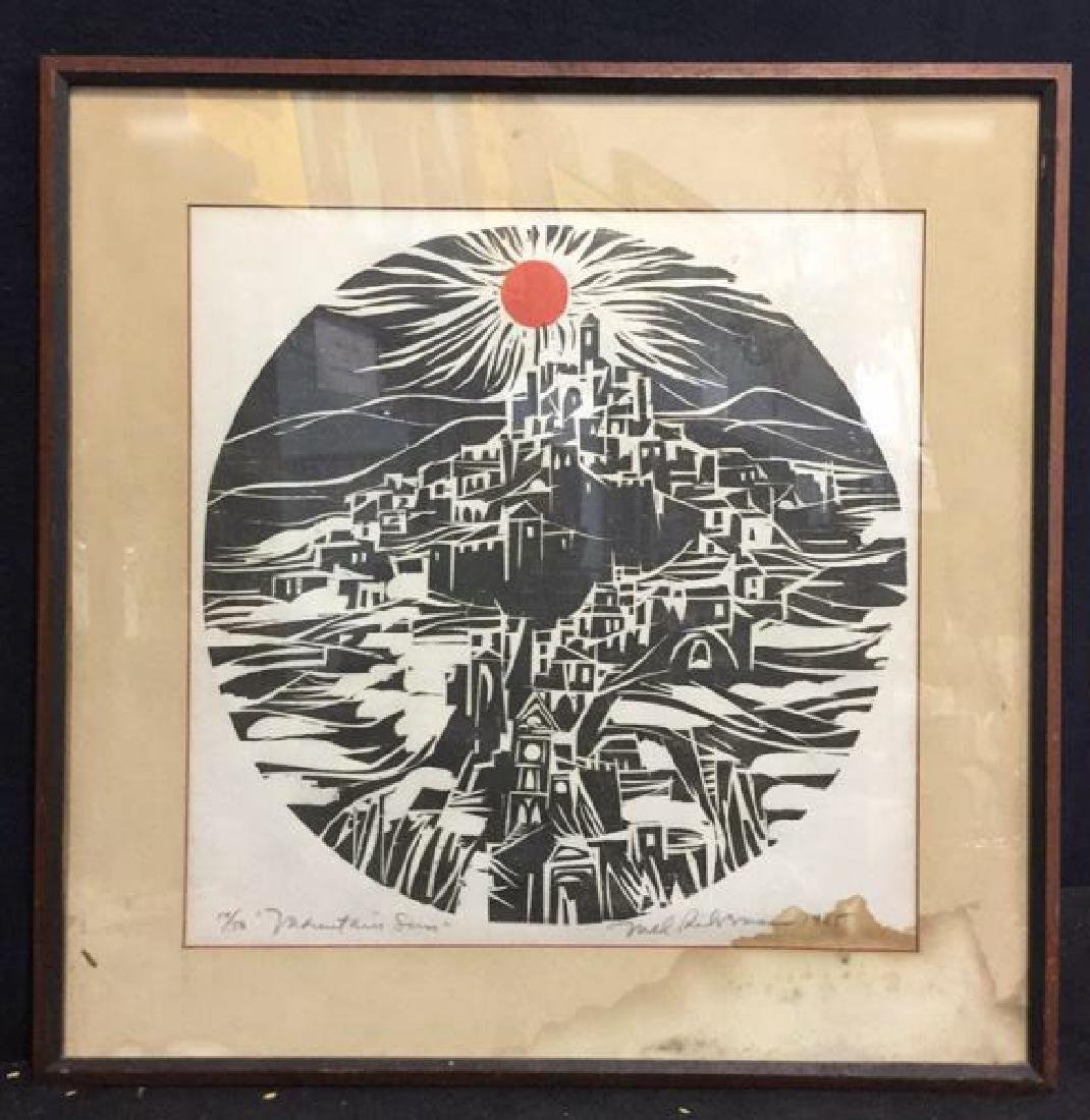 MEL SILVERMAN MOUNTAIN SUN Lithograph - 2