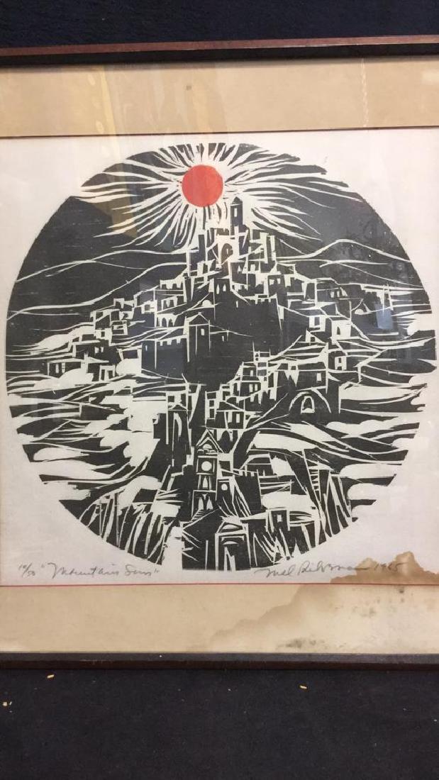MEL SILVERMAN MOUNTAIN SUN Lithograph - 3