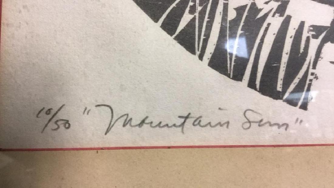 MEL SILVERMAN MOUNTAIN SUN Lithograph - 6