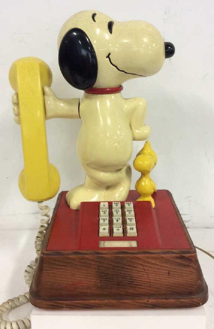 Vintage 1976 Snoopy and Woodstock Phone