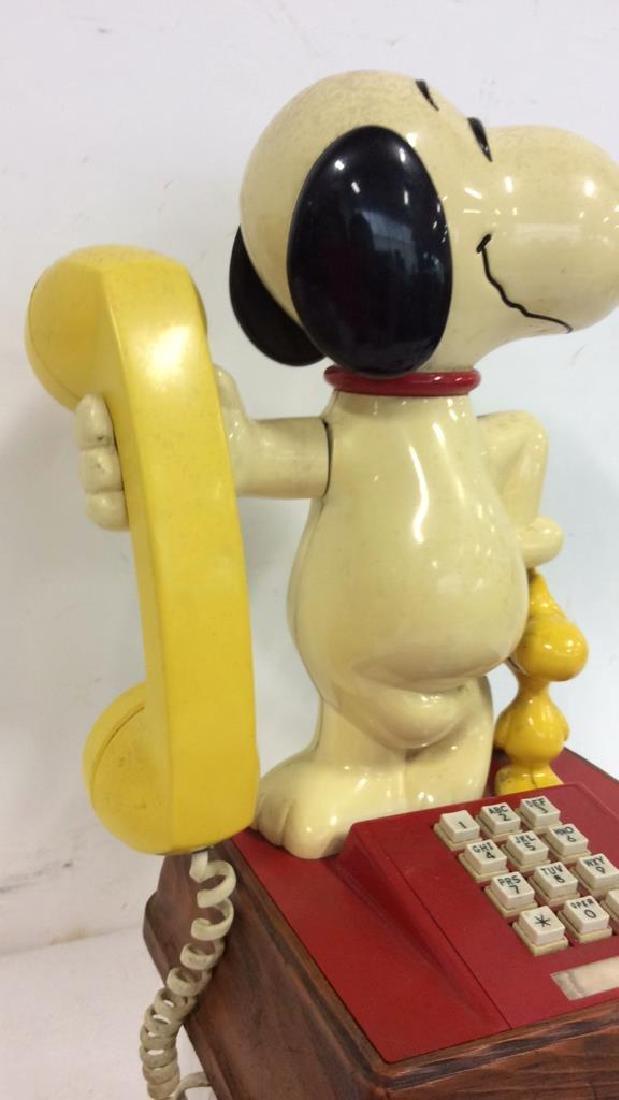 Vintage 1976 Snoopy and Woodstock Phone - 3