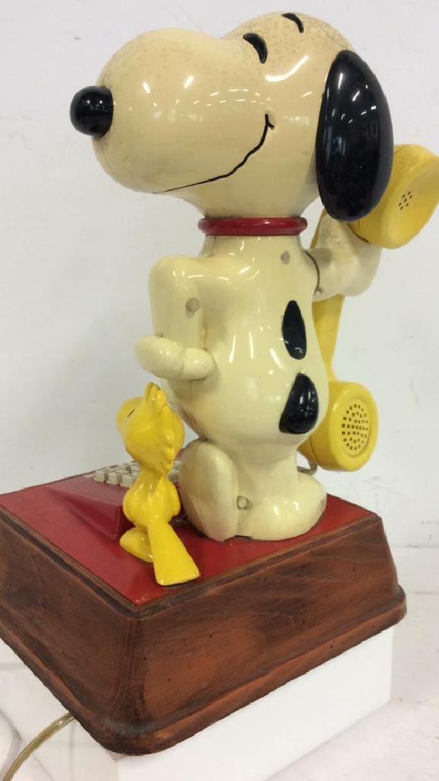 Vintage 1976 Snoopy and Woodstock Phone - 6