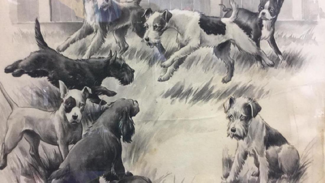 MORGAN STINEMETZ Dog Lithograph Artwork