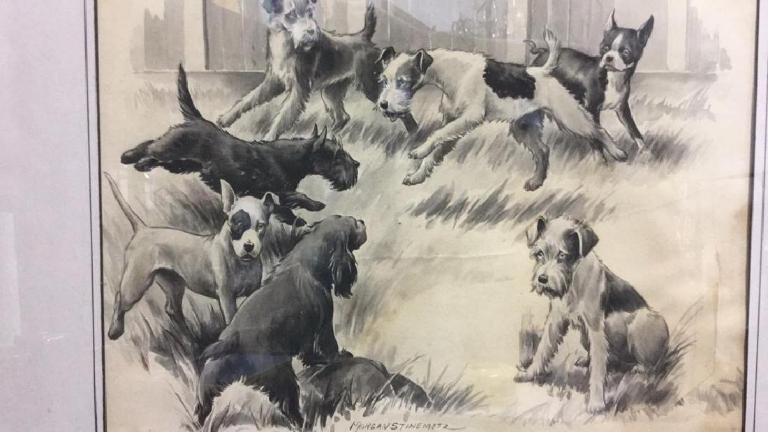 MORGAN STINEMETZ Dog Lithograph Artwork - 4