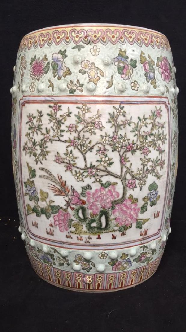 Vintage Oriental Porcelain Garden Stool