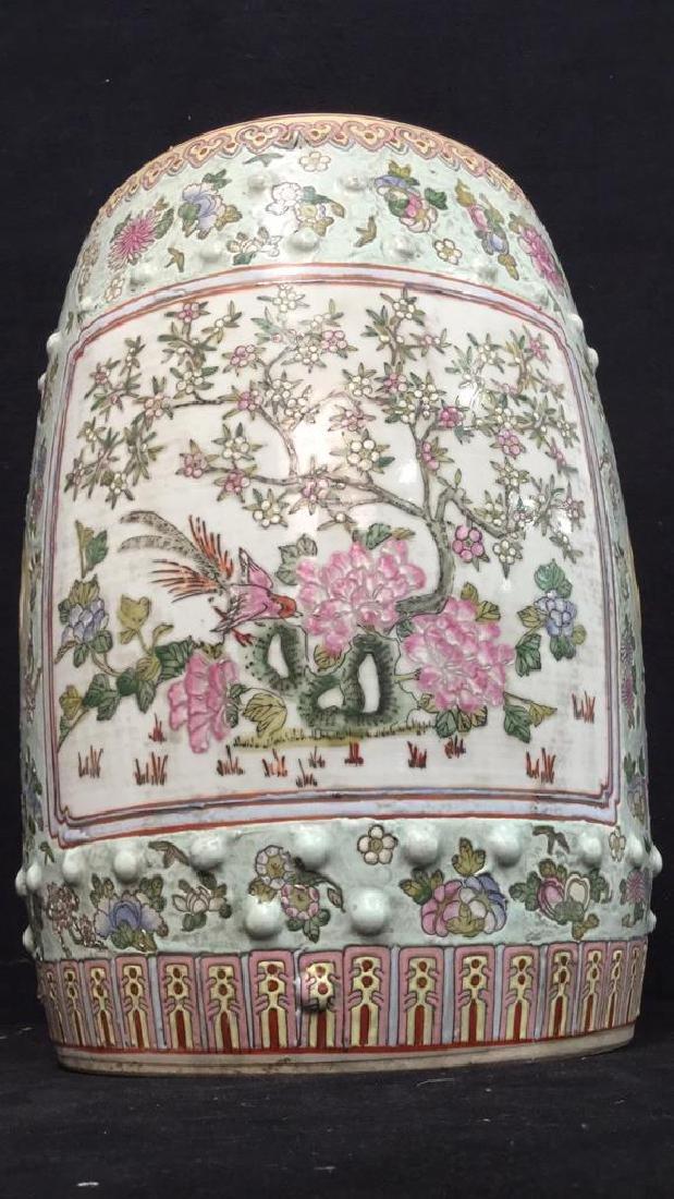 Vintage Oriental Porcelain Garden Stool - 2
