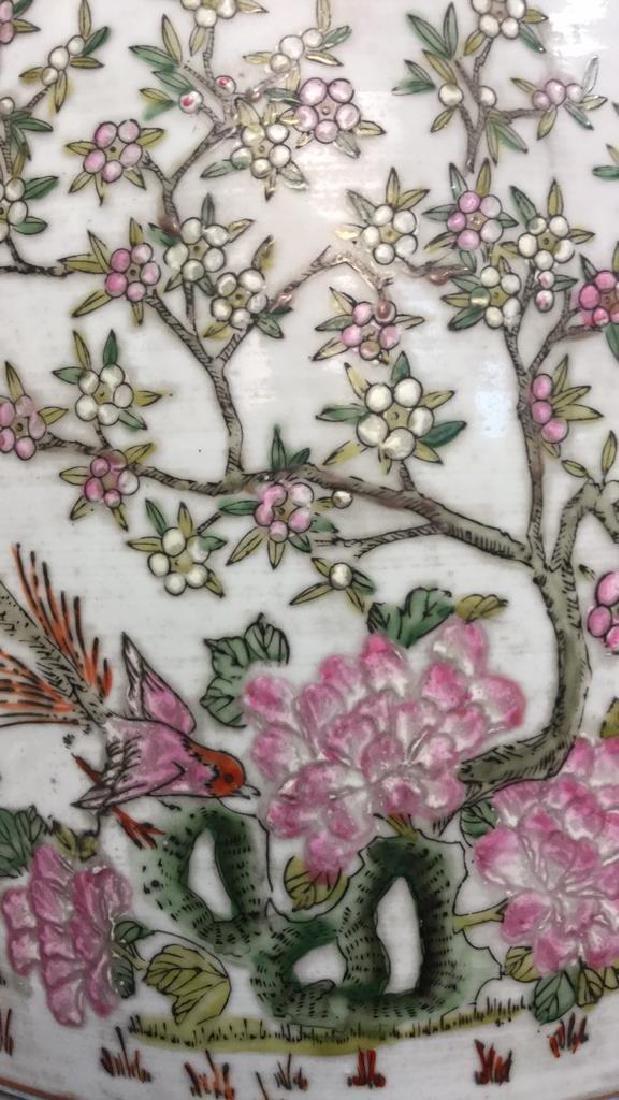 Vintage Oriental Porcelain Garden Stool - 4