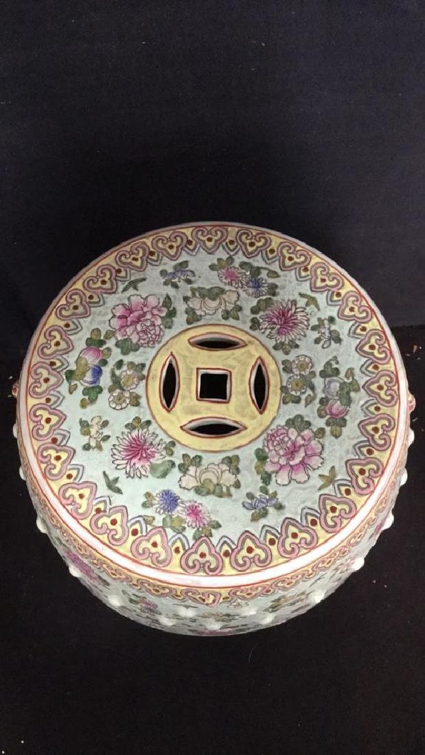 Vintage Oriental Porcelain Garden Stool - 6