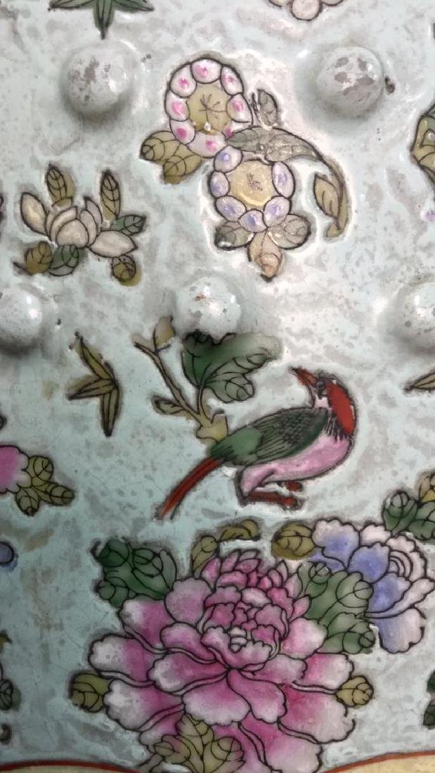 Vintage Oriental Porcelain Garden Stool - 7