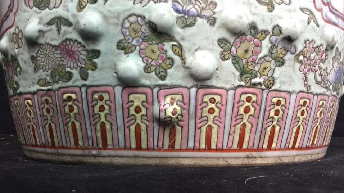 Vintage Oriental Porcelain Garden Stool - 8