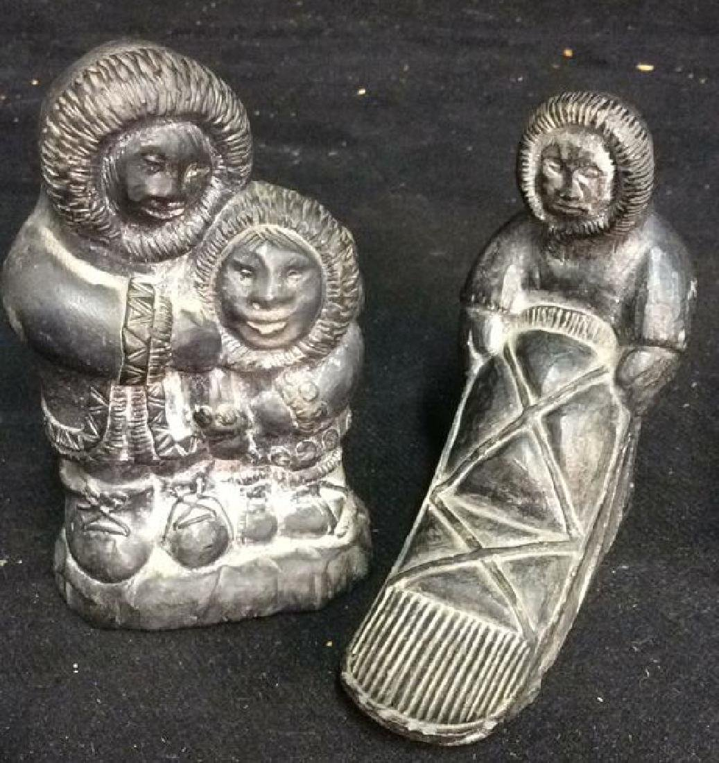 Lot 2 Sculpted Inuit Figurals , WOLE, Canada