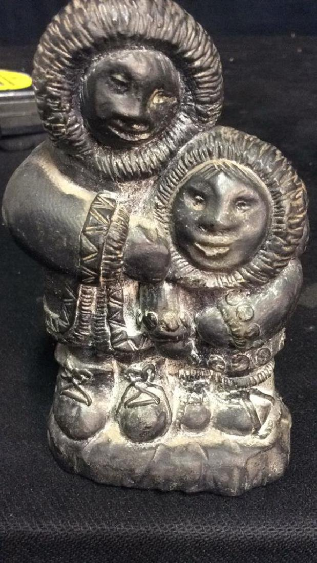 Lot 2 Sculpted Inuit Figurals , WOLE, Canada - 9