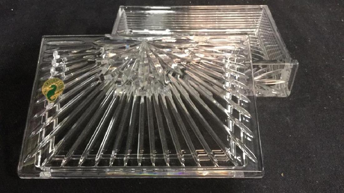 WATERFORD Crystal Millennium Keepsake Box w Box - 7