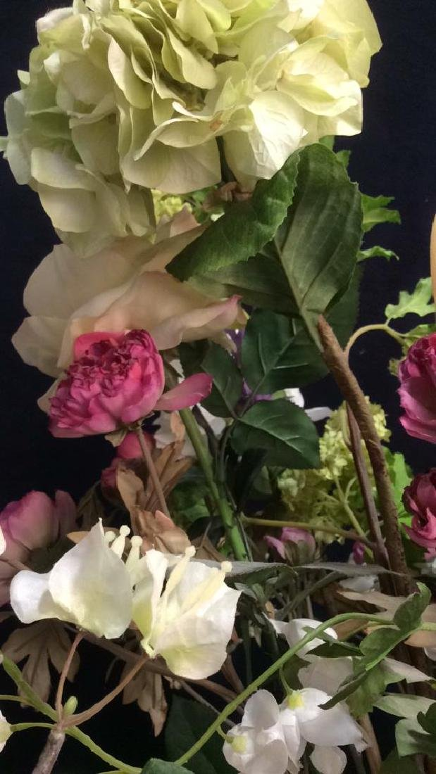 Antique Floral  Design Wash Basin with Pitcher - 10