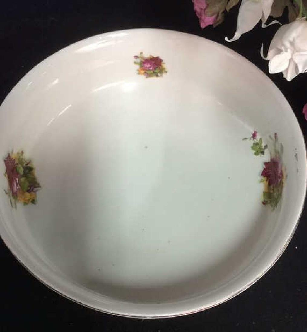 Antique Floral  Design Wash Basin with Pitcher - 4