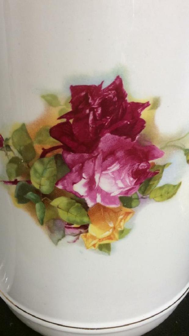Antique Floral  Design Wash Basin with Pitcher - 9