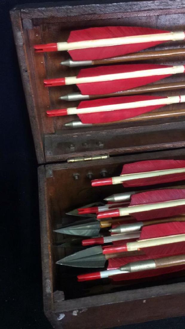 Set Of 29 Vintage Antique Wooden Arrows w Box. - 2