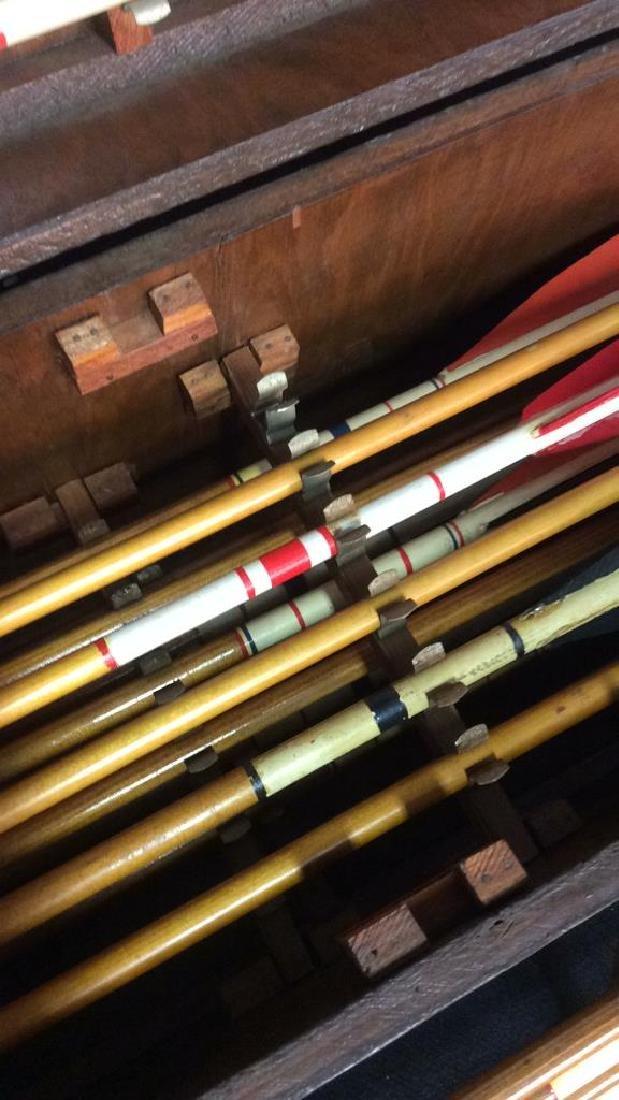 Set Of 29 Vintage Antique Wooden Arrows w Box. - 4