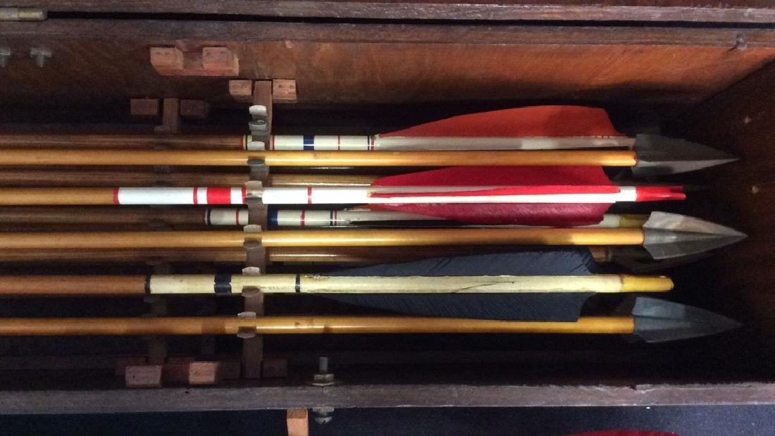 Set Of 29 Vintage Antique Wooden Arrows w Box. - 5