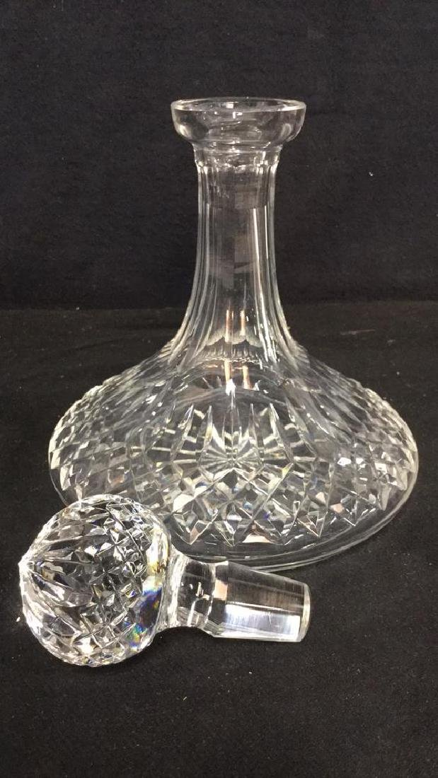 WATERFORD Cut Crystal Ships Decanter - 5