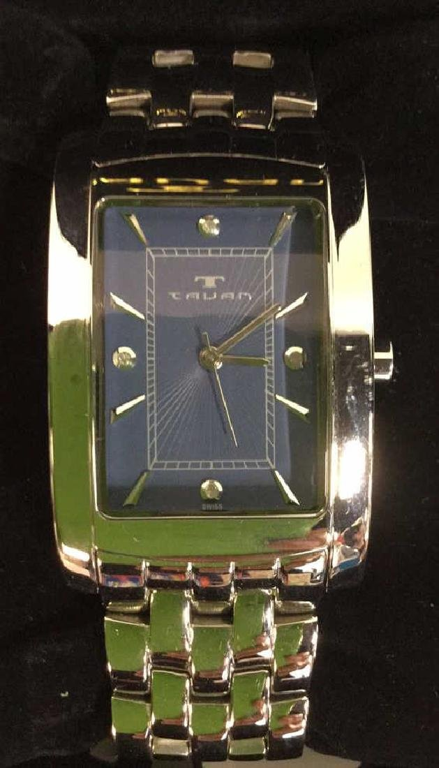 TAVAN Silver Toned Watch In Original Box