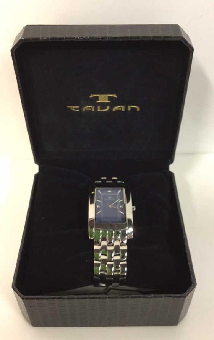 TAVAN Silver Toned Watch In Original Box - 2