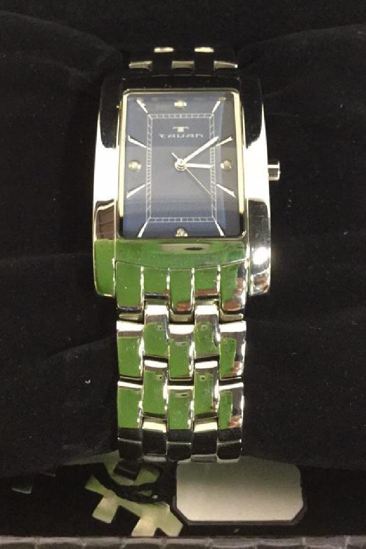 TAVAN Silver Toned Watch In Original Box - 3