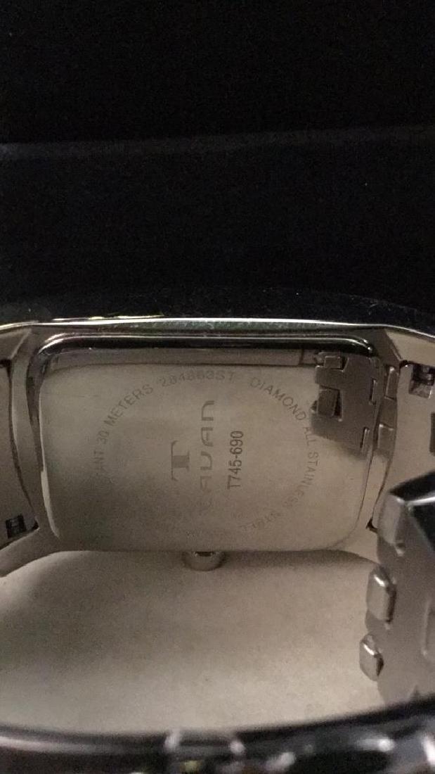 TAVAN Silver Toned Watch In Original Box - 7