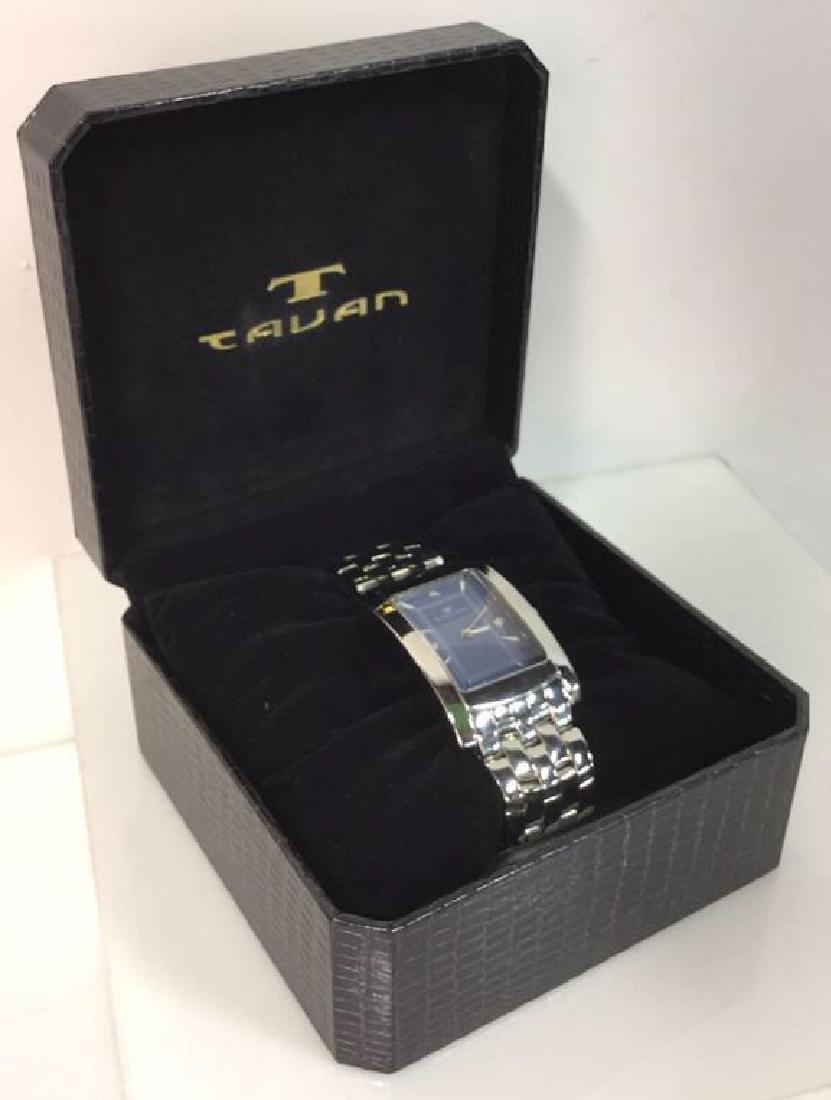TAVAN Silver Toned Watch In Original Box - 8
