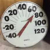 OHIO Vintage Circular Fahrenheit Thermometer