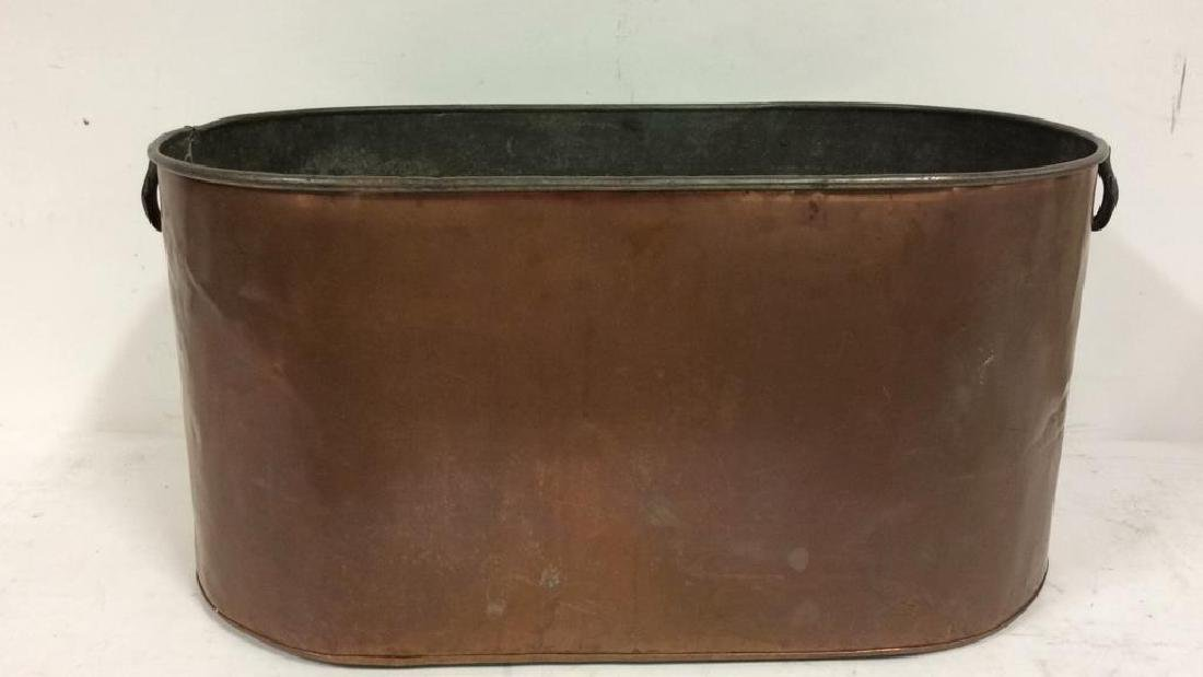 Copper Toned Metal Bin
