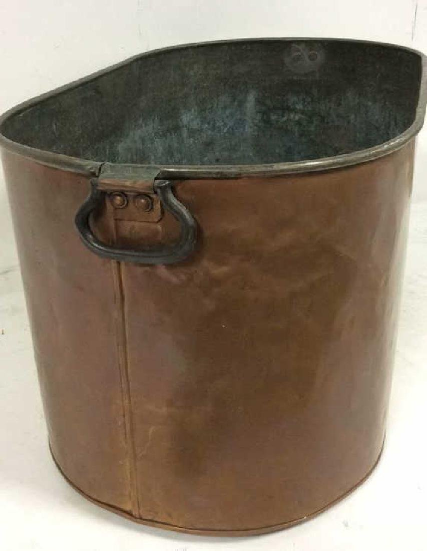 Copper Toned Metal Bin - 3