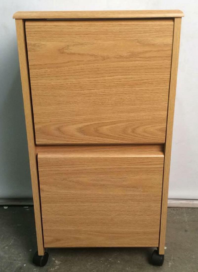 Wooden 2 Drawer File Cabinet W Wheels