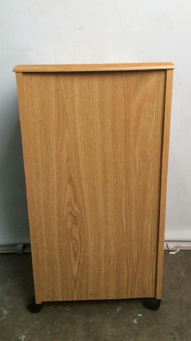 Wooden 2 Drawer File Cabinet W Wheels - 7