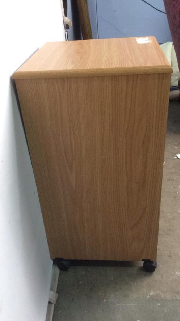 Wooden 2 Drawer File Cabinet W Wheels - 8