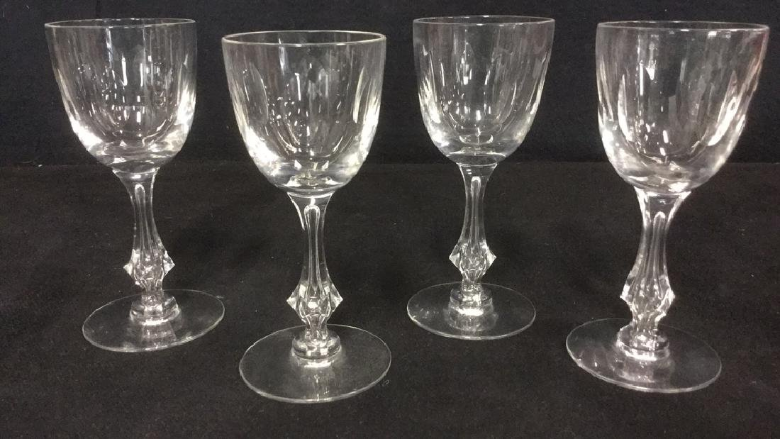Lot 4 Baccarat Style Crystal Cordial Wine Glasses