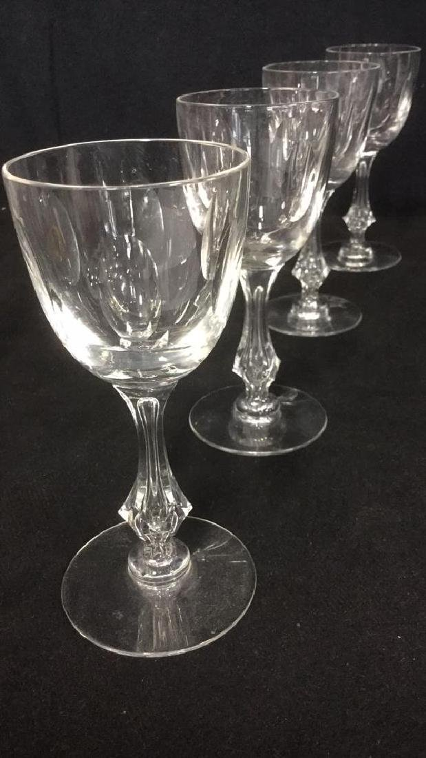 Lot 4 Baccarat Style Crystal Cordial Wine Glasses - 2