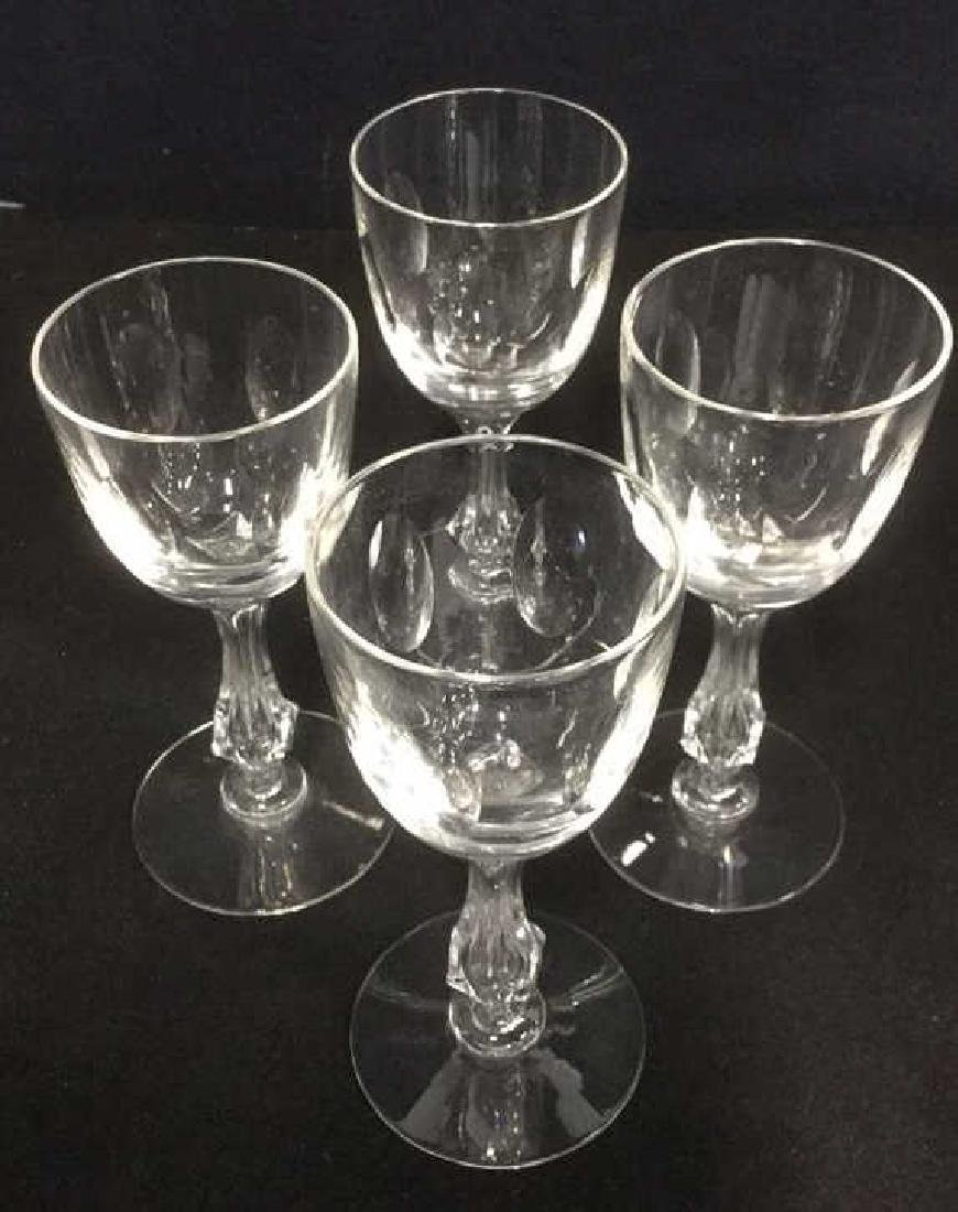 Lot 4 Baccarat Style Crystal Cordial Wine Glasses - 3