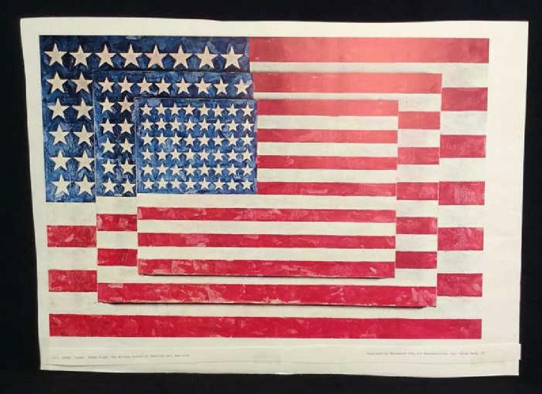 Jasper Johns Three Flags Print Whitney Museum