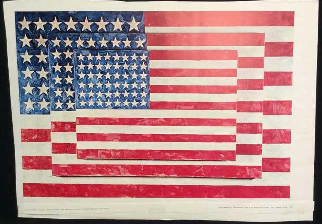 Jasper Johns Three Flags Print Whitney Museum - 2