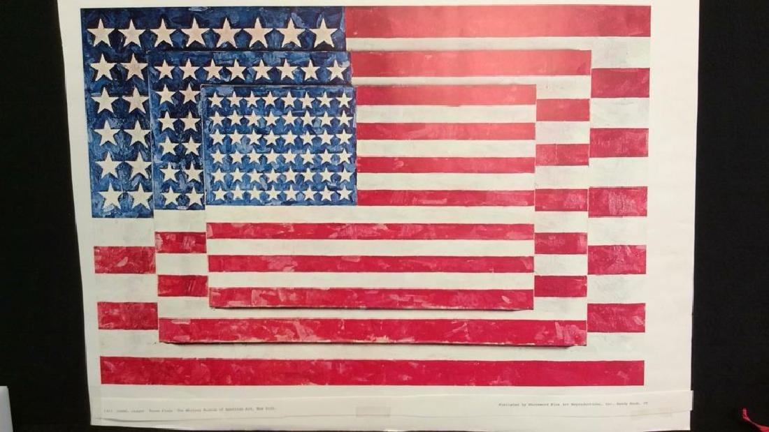 Jasper Johns Three Flags Print Whitney Museum - 3