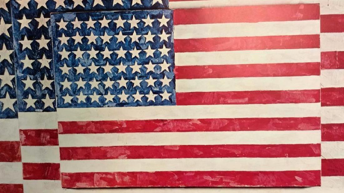 Jasper Johns Three Flags Print Whitney Museum - 5