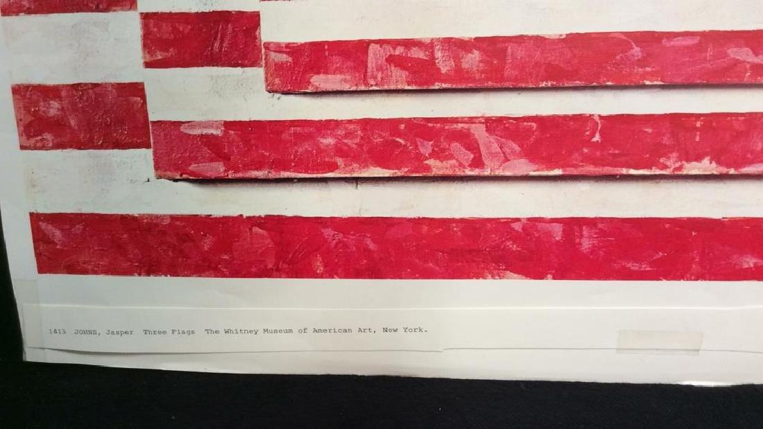 Jasper Johns Three Flags Print Whitney Museum - 6