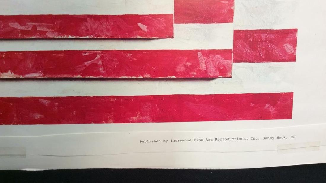 Jasper Johns Three Flags Print Whitney Museum - 7