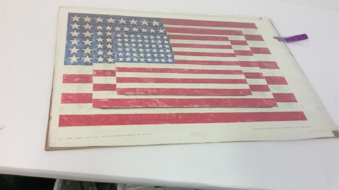 Jasper Johns Three Flags Print Whitney Museum - 9