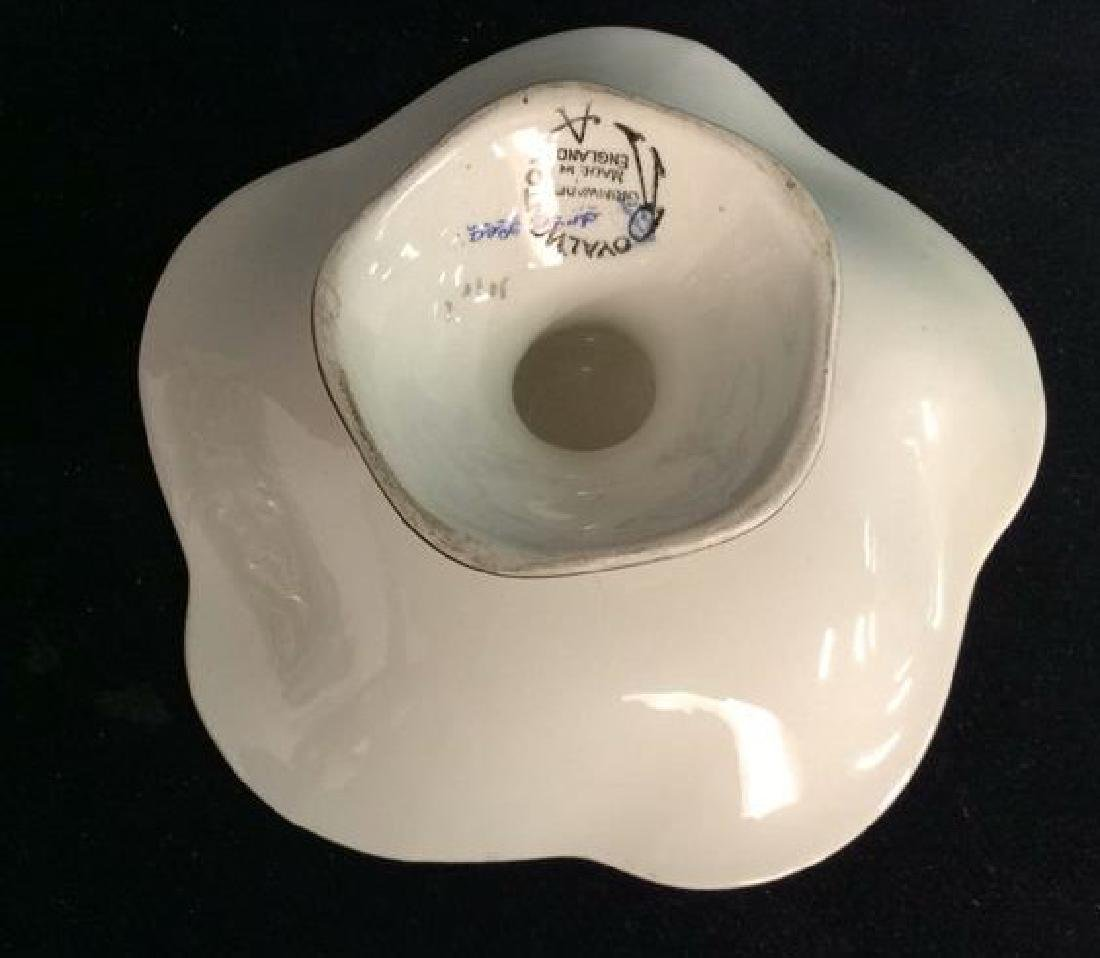 Vintage English Chintz Porcelain Footed Candy Dish - 8