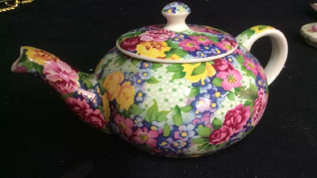 Group English Chintz Porcelain Tabletop - 2
