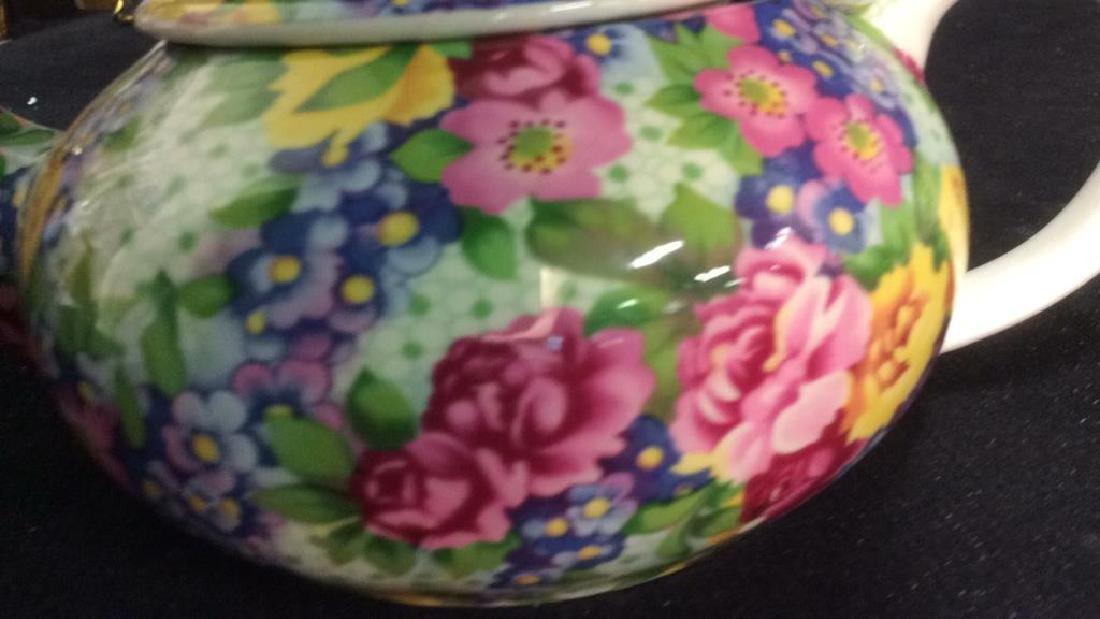Group English Chintz Porcelain Tabletop - 3