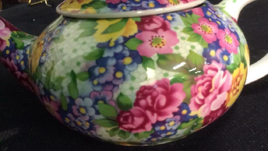 Group English Chintz Porcelain Tabletop - 4