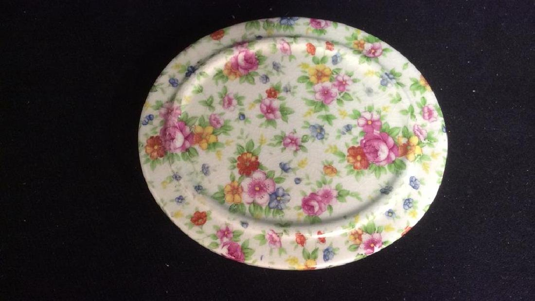 Group English Chintz Porcelain Tabletop - 5